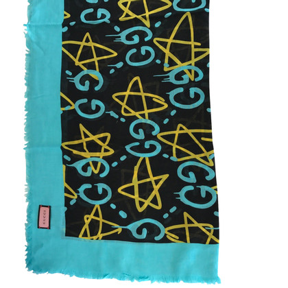 Gucci Ghost Scarf Blue