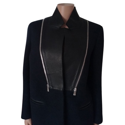 Sandro Wool coat with leather collar
