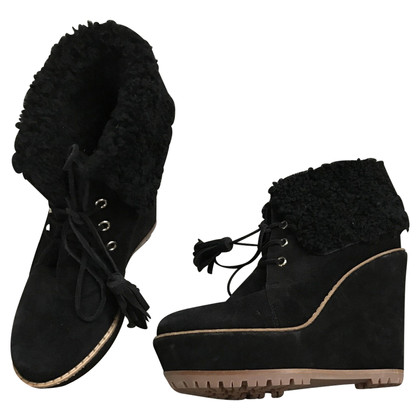 Mulberry Lined ankle boots