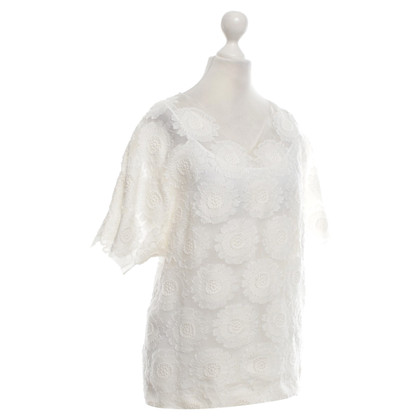 Ermanno Scervino Organza shirt with a floral pattern