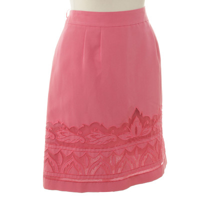 Philosophy di Alberta Ferretti skirt in coral red