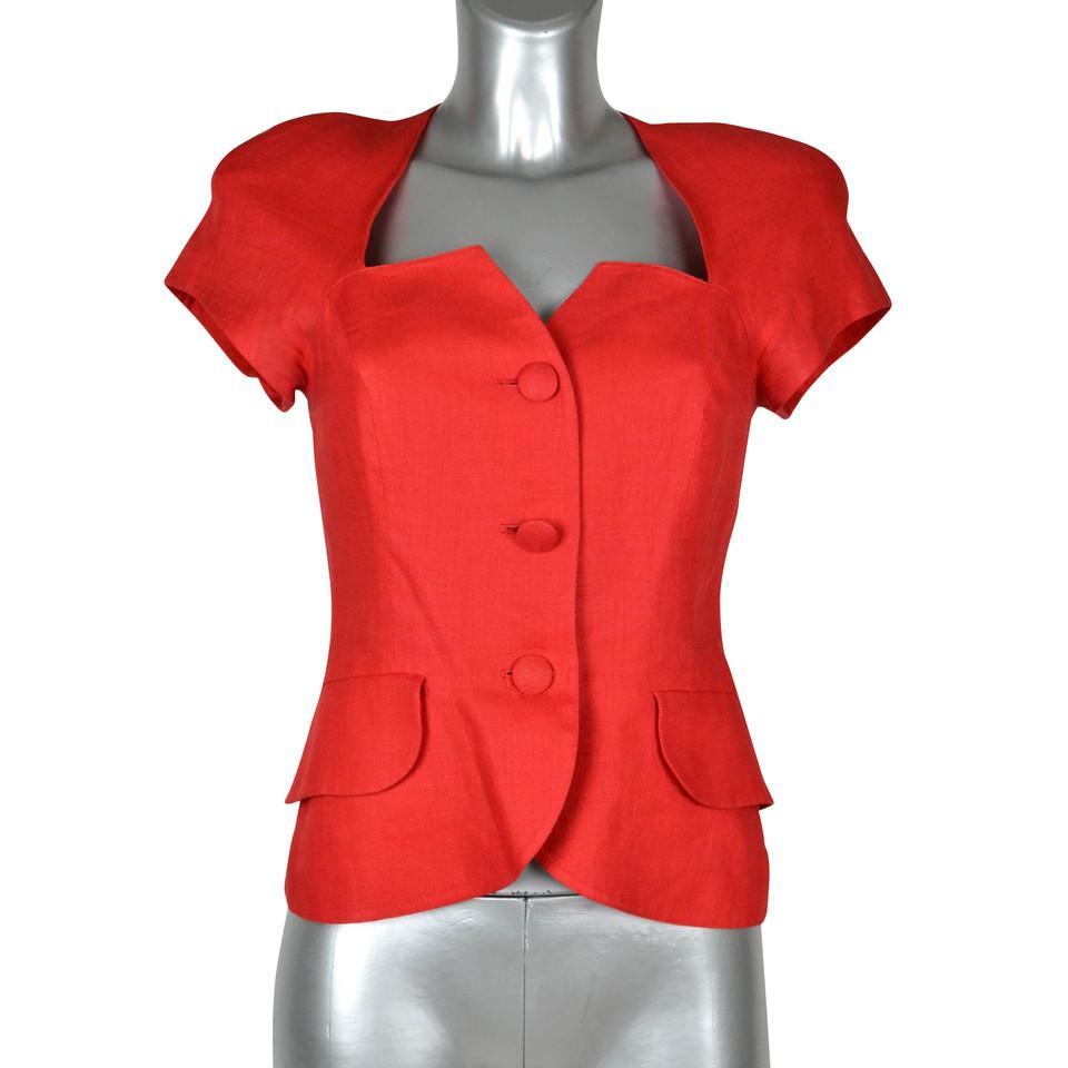 Cacharel Veste à manches courtes en rouge
