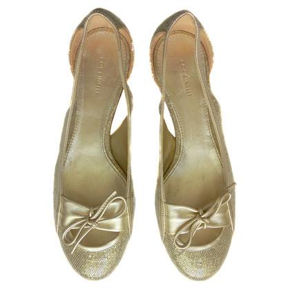 Coccinelle Goldfarbene Ballerinas