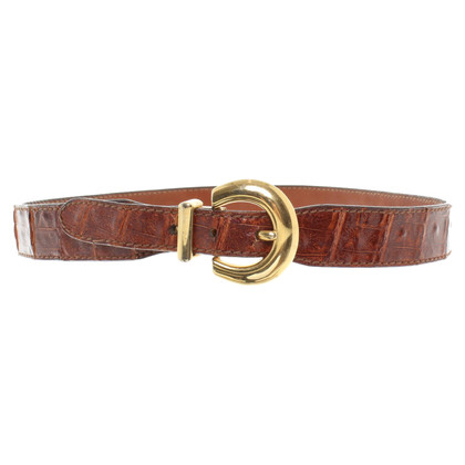 Jil Sander Belt crocodile skin