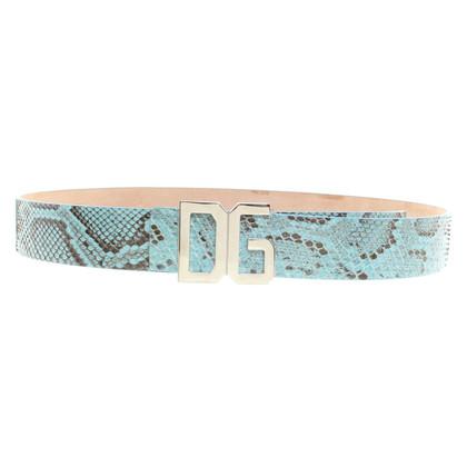 Dolce & Gabbana Teal riem slangenhuid