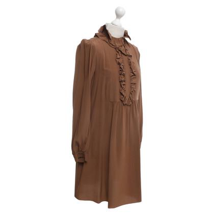 Chloé Abito in seta in marrone