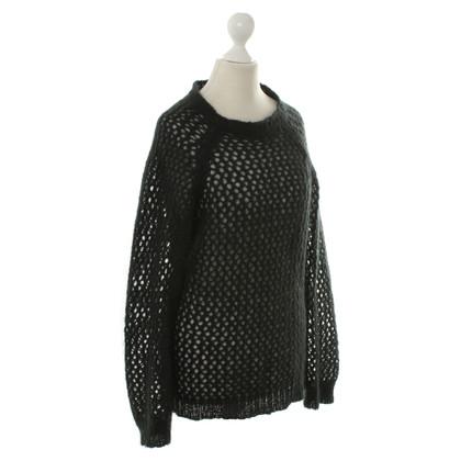 Isabel Marant Etoile Grof gebreide pullover zwart