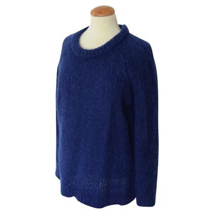 Filippa K blauwe mohair trui