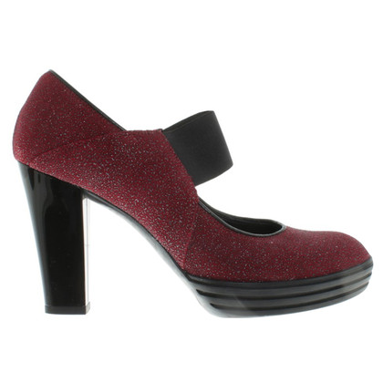 Hogan Pumps in Rot