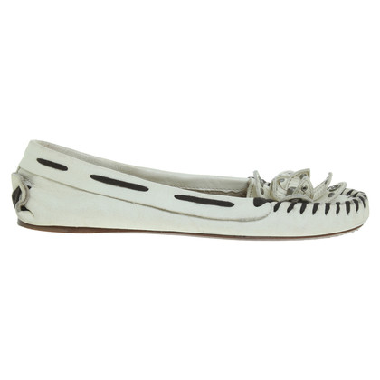 Miu Miu Loafer in Creme