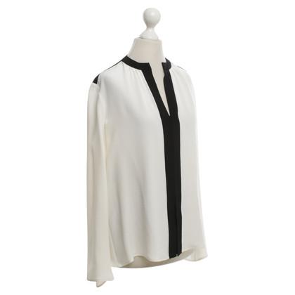 Derek Lam Silk blouse in white / black