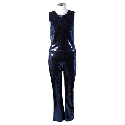 Dolce & Gabbana Paillettes blu costume
