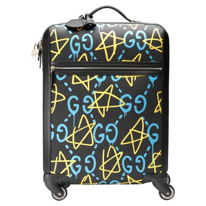 Gucci NEW black Trolley with GHOST print