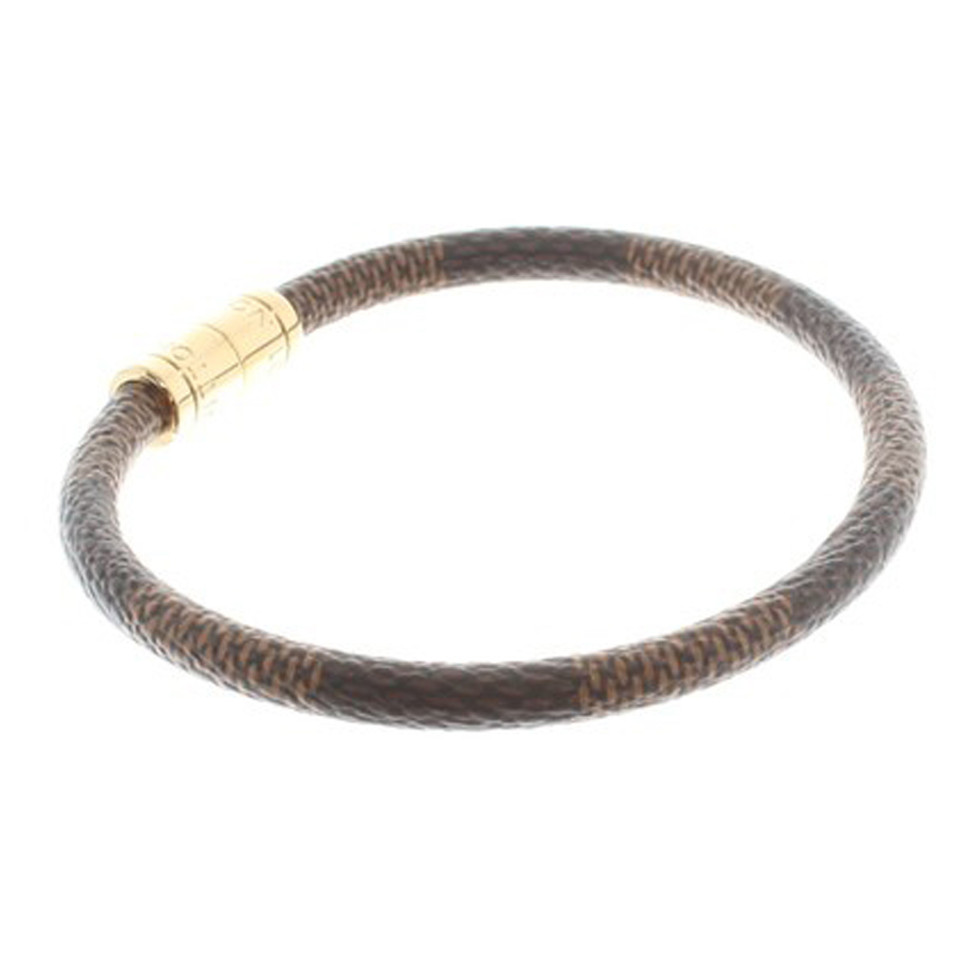 "Louis Vuitton ""Keep It Bracelet Damier Ebene Canvas"""