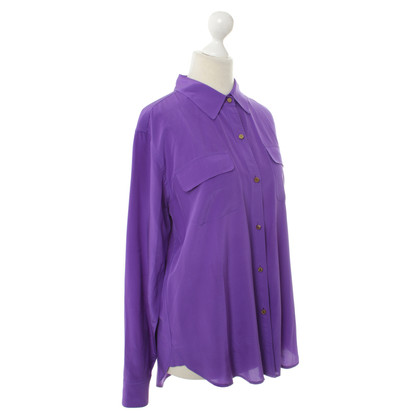 Juicy Couture Blusa in seta viola