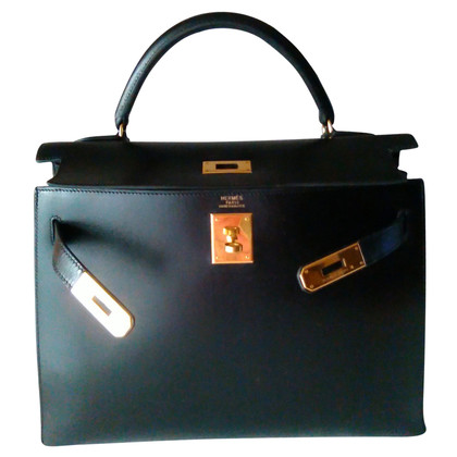 "Hermès ""Kelly Bag 32 Box Calf Leder"""