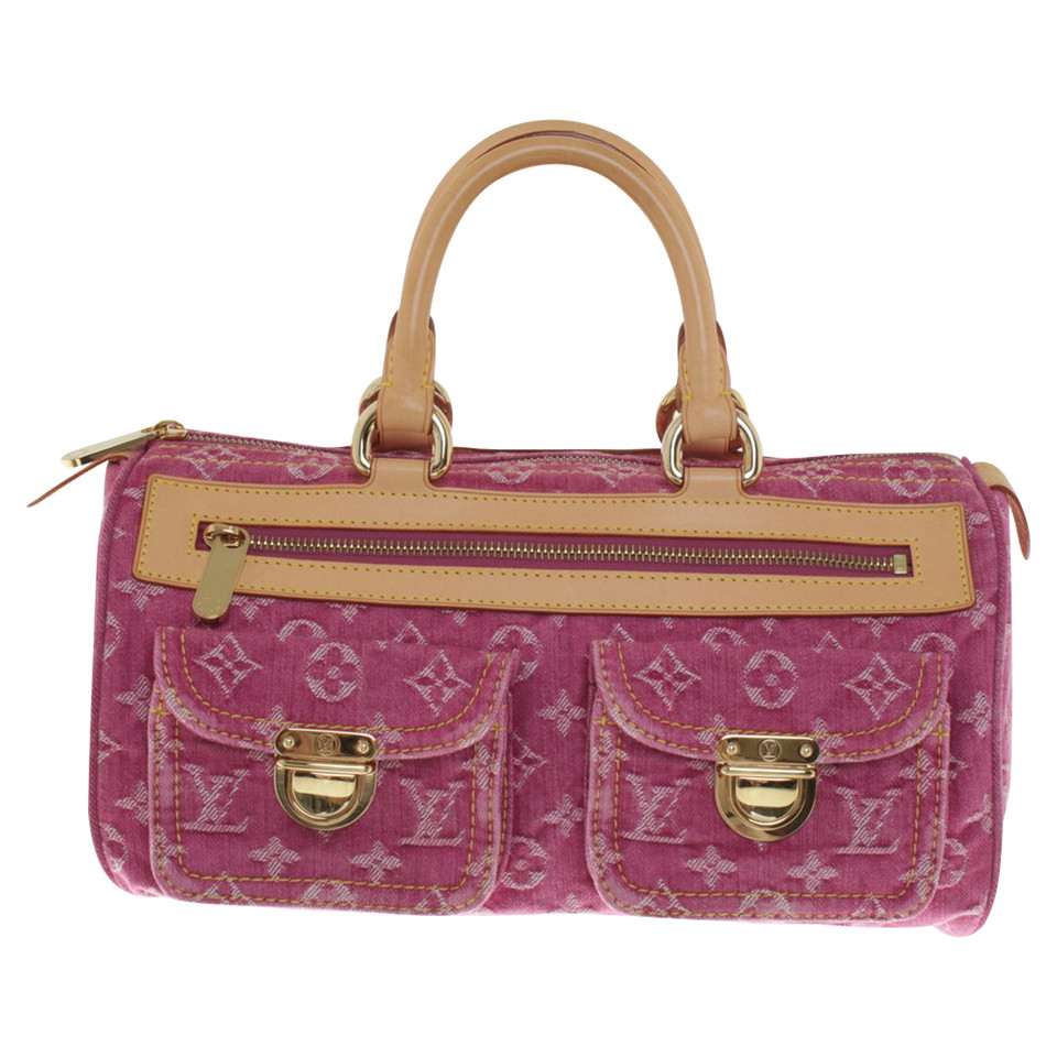 louis vuitton handtasche neo speedy denim fuchsia second hand louis vuitton handtasche neo. Black Bedroom Furniture Sets. Home Design Ideas
