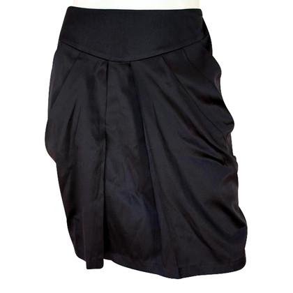 By Malene Birger Black silk skirt