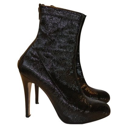 Brian Atwood Plateau Ankle Boots in crash optics