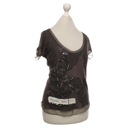 Christian Dior top in brown