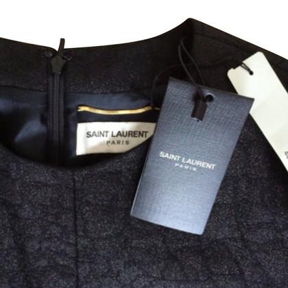 Saint Laurent Black Bow Detail Shift Cocktail Dress