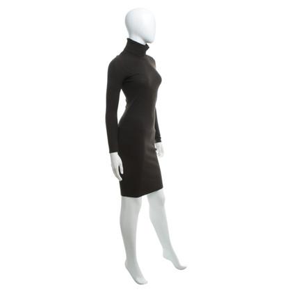Marc Cain Gebreide jurk in donkerbruin
