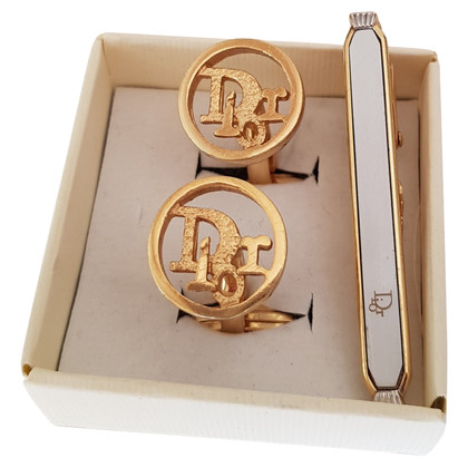 Christian Dior Gold colored cuff links