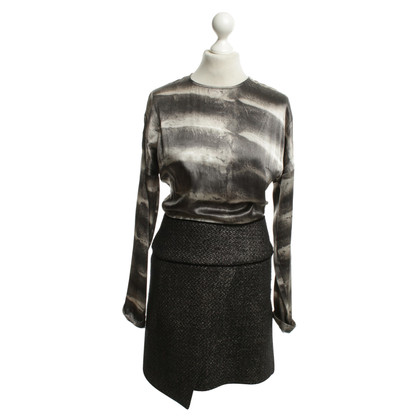 Roberto Cavalli Printed Dress in Gray