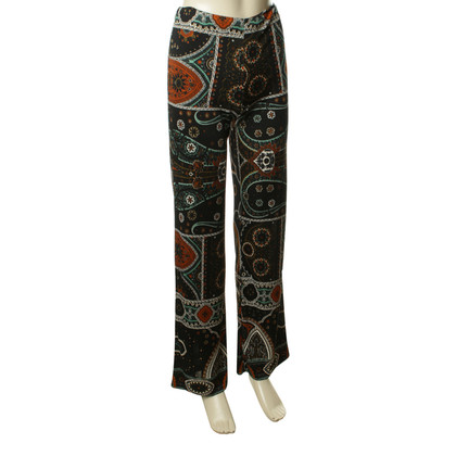 Etro Pants with Paisley Muster