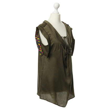 Matthew Williamson Silk top in green