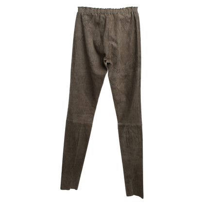 Other Designer STOULS - Wild leather-trousers in Khaki