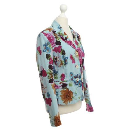 Blonde No8 Blazer with floral pattern