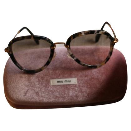 Miu Miu Noir Aviator Sunglasses Havana Marble