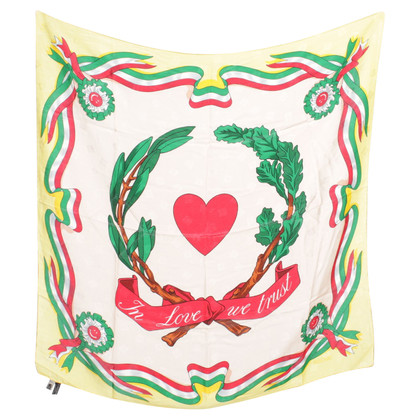 Moschino Silk scarf with heart motive