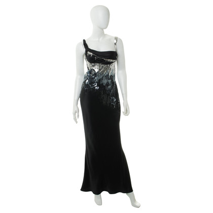 John Galliano Silk dress with sequin trim