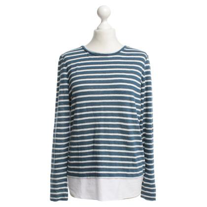 Tory Burch Camicia blu / bianco a righe
