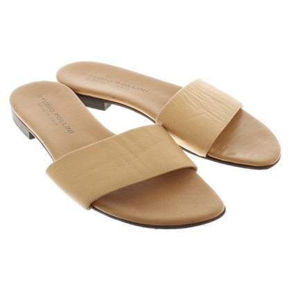 Pollini Leather slippers