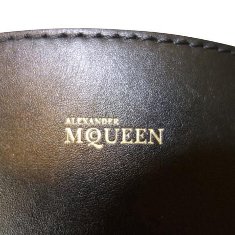 Alexander McQueen Legend Shopper aus Leder Schwarz Freies Verschiffen Der Offizielle Website zuSSy