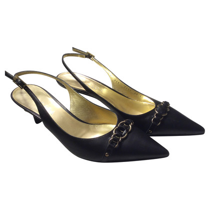Escada Slingback nero pumps