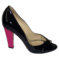 Jimmy Choo Black patent leather peeptoes