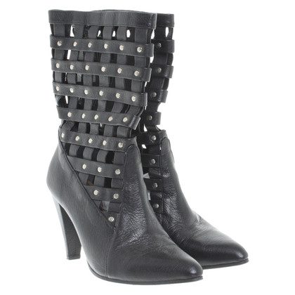 By Malene Birger Leather ankle boots with cut-outs