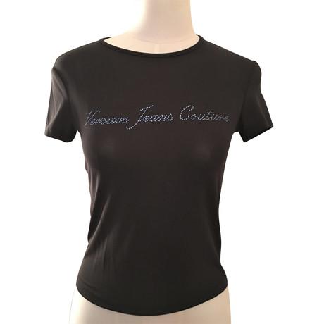Versace Schwarzes T-Shirt Schwarz