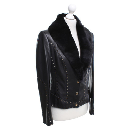 Escada Lambskin jacket with fur