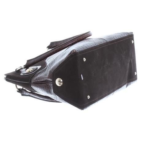 Freies Verschiffen Offiziell Max Mara Handtasche in Reptil-Optik Braun Beliebte Online kFaEw2gDE