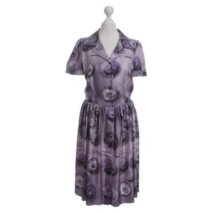 Prada Blusenkleid mit floralem Muster