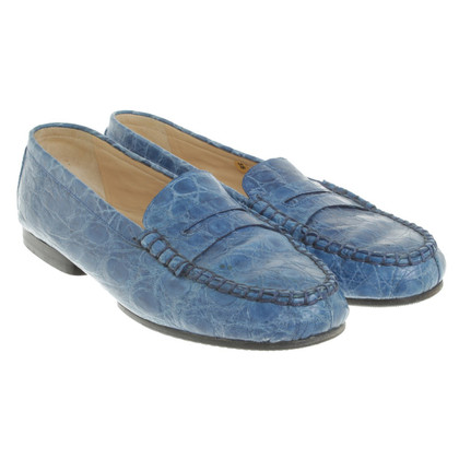 Unützer Loafer con rettile embossment
