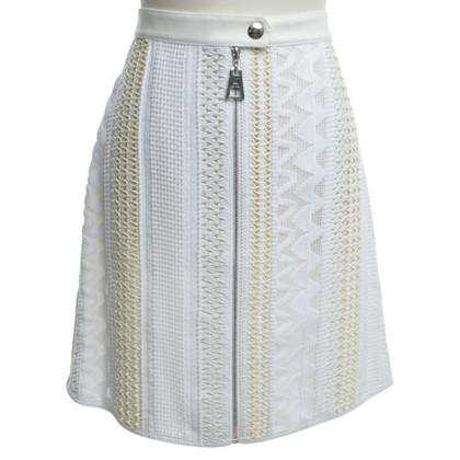 Louis Vuitton Weißer Rock mit Mustern