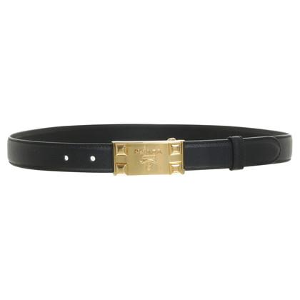 Prada Black belt with logo buckle