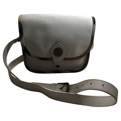 Burberry Weißes Lederhandtasche