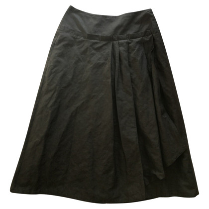 Max Mara Metallic brown midi skirt